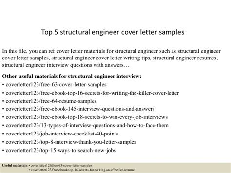 Systems Engineering Manager Cover Letter by Top 5 Structural Engineer Cover Letter Sles