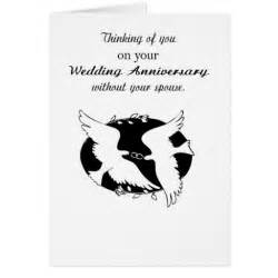 wedding anniversary without spouse memories card zazzle