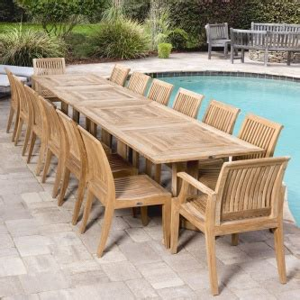 pc  pc large outdoor dining table  chairs