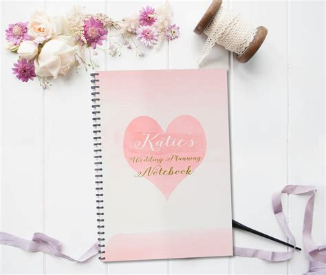Wedding Planner Gifts by Personalised Wedding Planning Notebook Gift By August