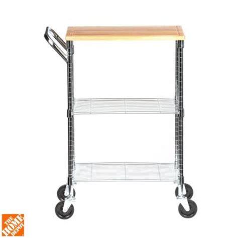 Home Depot Cart by Honey Can Do Rolling 2 Shelf Chopping Block Cart Shf 01607