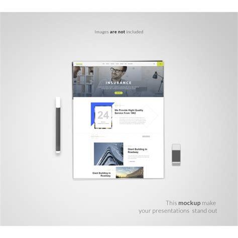 web layout mockup psd web page on white background mock up psd file free download