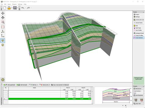 3d cross section stratigraphy geotechnical software geo5 fine