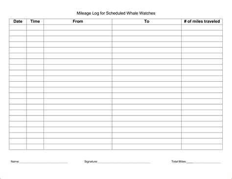 mileage log form 5 irs mileage log printable receipt