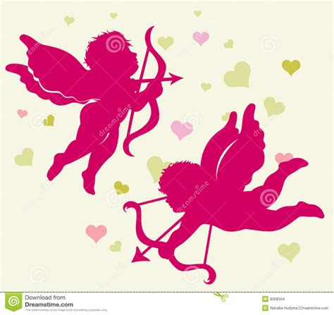 valentines day cupid pictures silhouettes of cupid for s day stock images