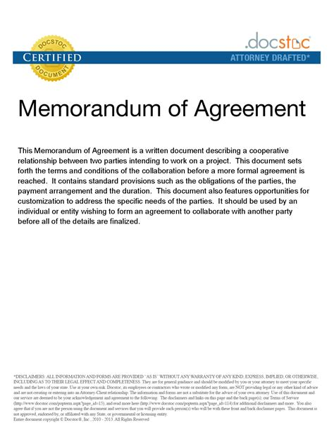template of agreement between two best photos of free template memorandum of agreement for