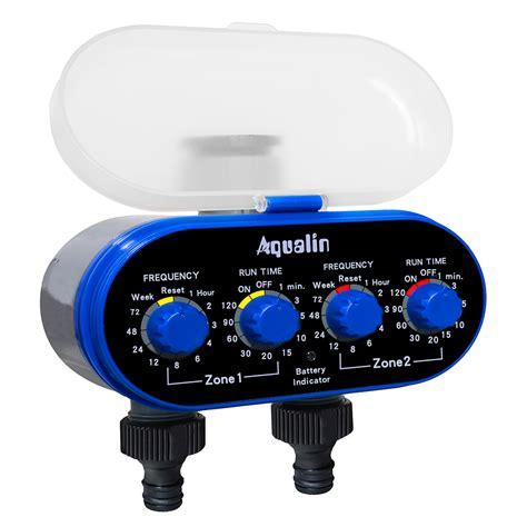 timer irigasi air taman otomatis 2 outlet blue jakartanotebook