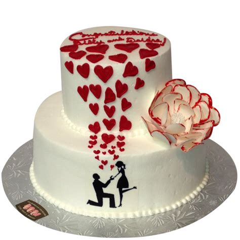 Engagement Wedding Cakes by 1355 2 Tier Engagement Cake Abc Cake Shop Bakery