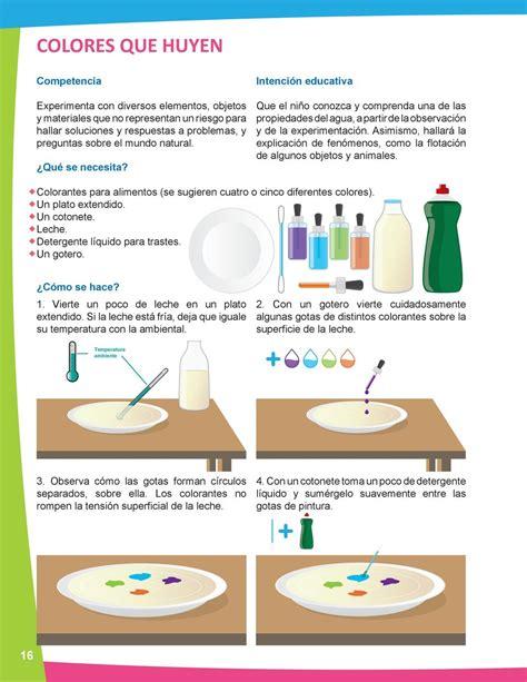 Ciencia En Preescolar Manual De Experimentos Para El Colorantes Alimentos L