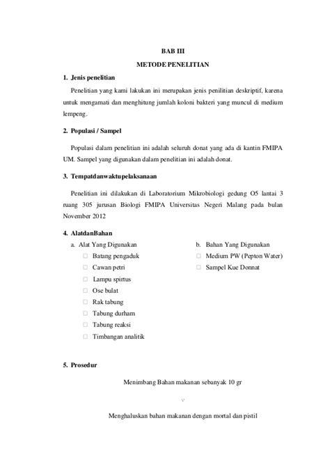 laporan praktikum membuat donat laporan donat hesti