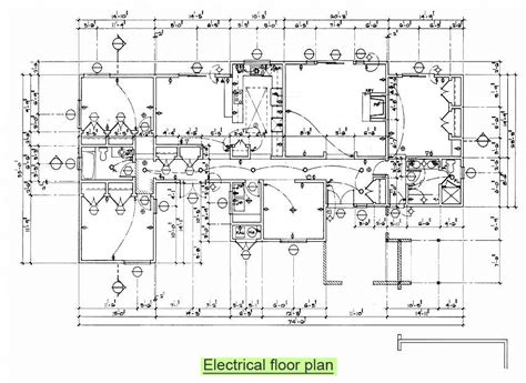 electrical floor plan arc261 construction drawing