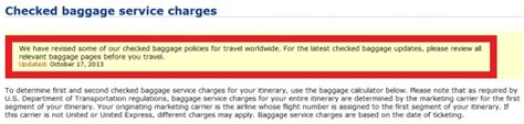 united airlines baggage fees domestic united airlines reduces star alliance gold checked baggage