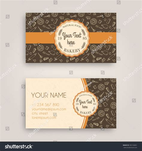 doodle name card vector business card design template doodle stock vector