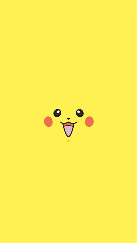 pikachu pokemon minimal flat iphone   wallpaper