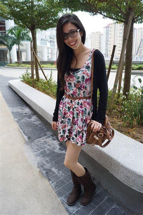Wst 18465 White Flower Denim Skirt b cahill cotton on black cardigan cotton on floral
