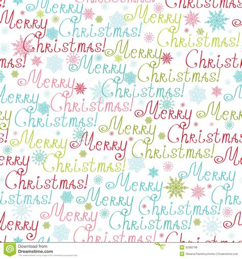 merry christmas text seamless pattern background stock vector illustration  frozen