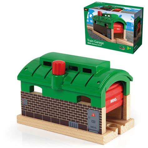 brio railways brio wooden railway train garage at toystop