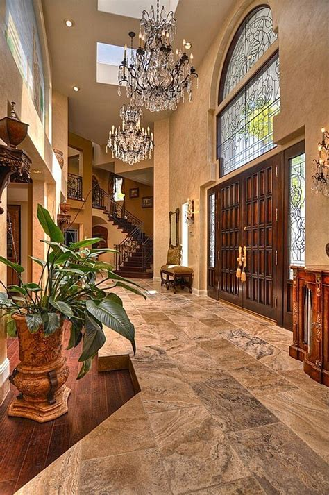 beautiful design ideas tuscan home decor for hall kitchen 45 custom luxury foyer interior designs