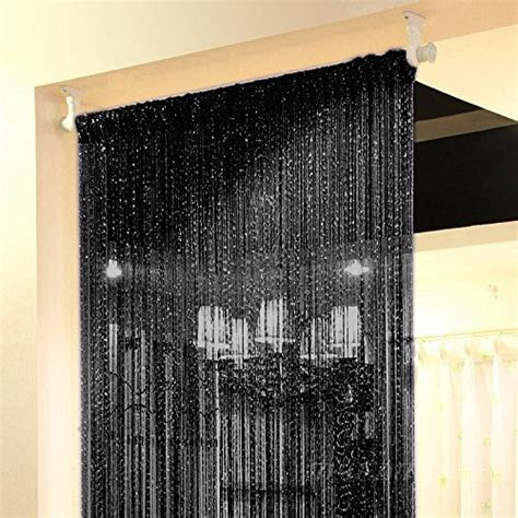 string curtains for windows topix 37 4x76 7 inch rare flat silver ribbon door string