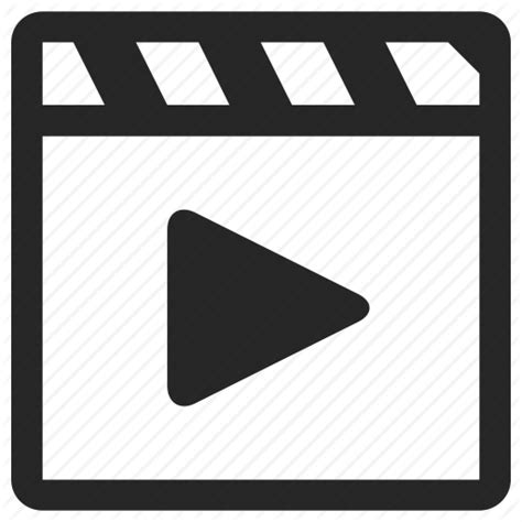 format video clip clip film movie multimedia play short video icon