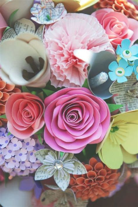 Paper flowers!   Weddingbee Photo Gallery