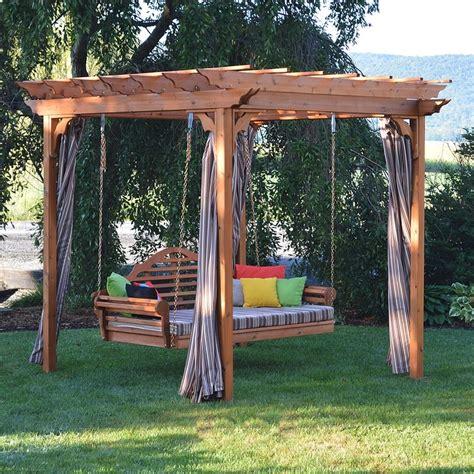 Pergola Swing - a l furniture co cedar pergola arbor swing bed set