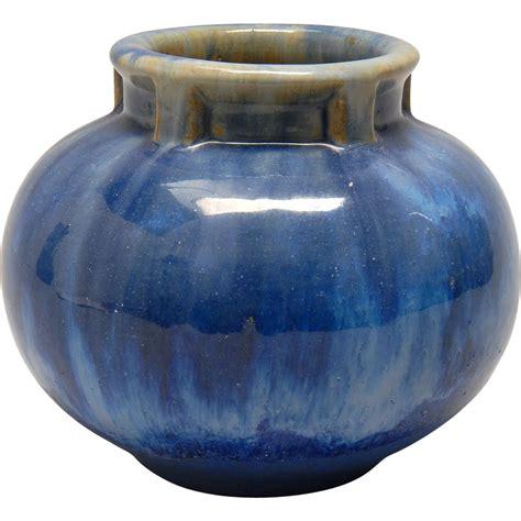 Fulper Vase by Antique Fulper Pottery Vase Blue Flambe 1910 1916
