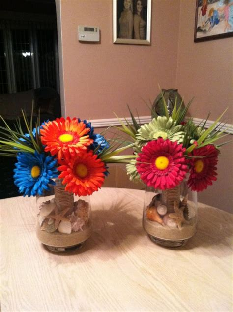 beach theme floral centerpieces images frompo 1
