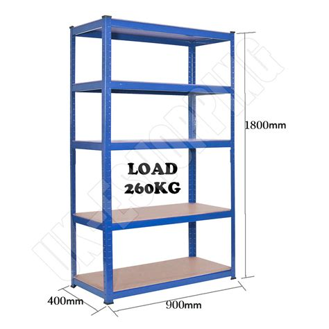 5 tier heavy duty boltless metal steel shelving shelves