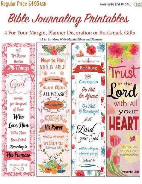 printable bookmark planner bible journal bookmark margin strips 00 bible