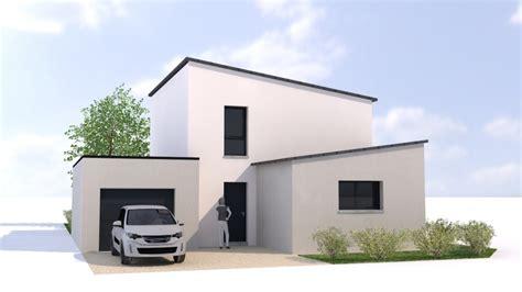 Big Garage Plans by Maison Contemporaine Rennes Ille Et Vilaine 35 Et