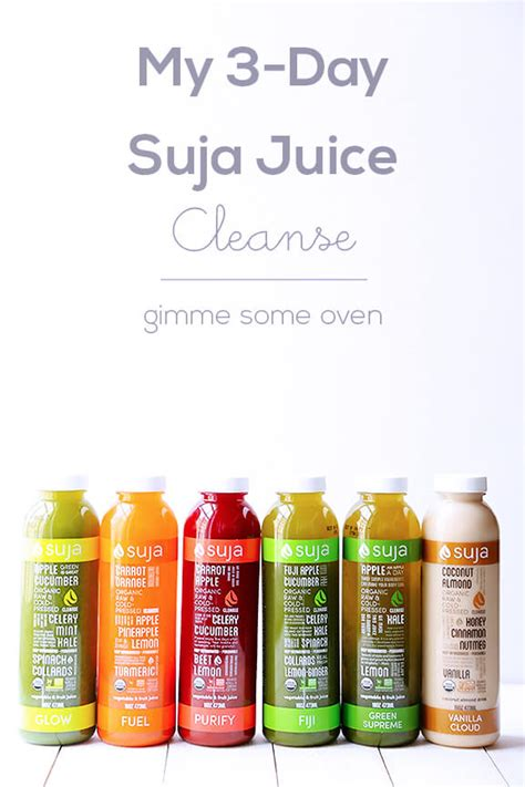 The Juice Detox by My 3 Day Suja Juice Cleanse Gimme Some Oven