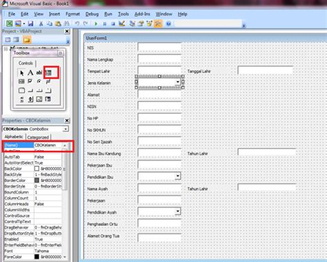 cara membuat form sederhana di excel cara membuat form sederhana dengan microsoft excel