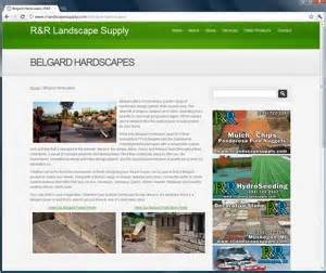 Garden Supply Websites R R Landscape Supply 231 Graphics And Website Design