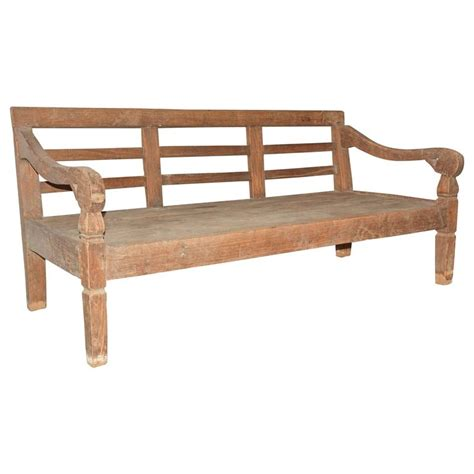 daybed bench colonial hand carved teak wood daybed bench at 1stdibs
