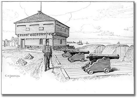 New American House Plans blockhouse and battery in old fort toronto 1812 ca 1921