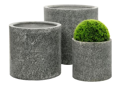 Terrazzo Planters by Terrazzo Cylinder Planter White 163 23 99