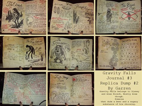 printable journal pages gravity falls gravity falls journal 3 replica page dump 2 by garrenn