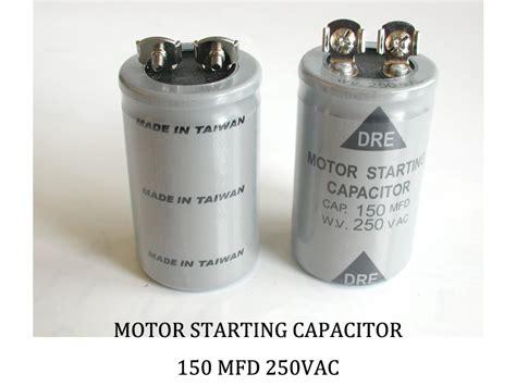 motor starting capacitor 150 mfd 250vac 150 mfd 250 vac allen creations corp