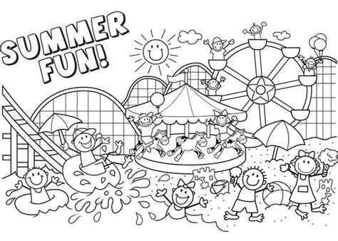 Summer Pictures To Print And Colour