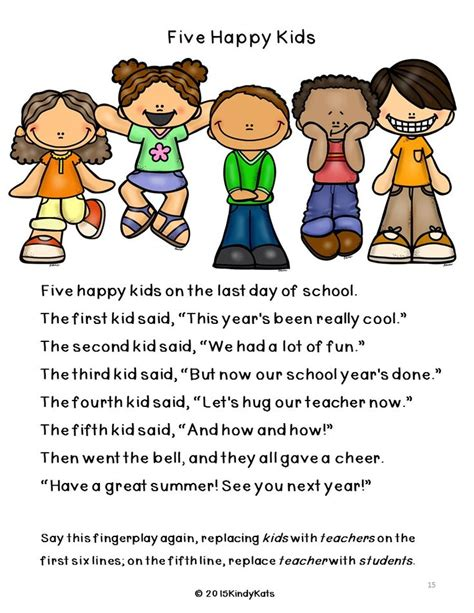 new year songs and fingerplays 12 best images about end of school year on