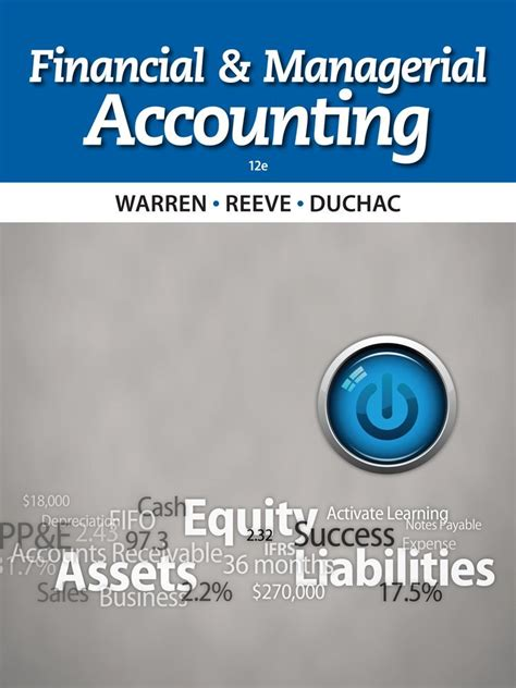 Financial Managerial Accounting financial and managerial accounting 12th edition