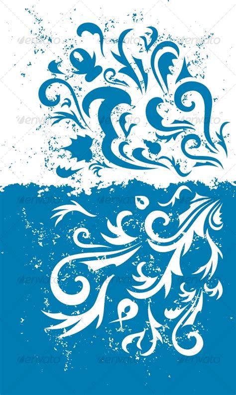 Elegan Putih Cp Batik Katun background biru vector images