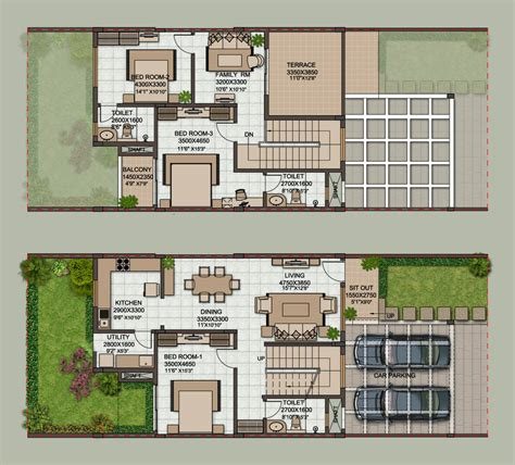 floor plans of houses in india row house floor plans in india image mag