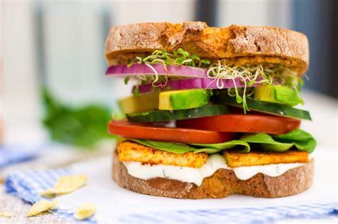 gourmet vegetarian sandwich recipes ultimate veggie sandwich with smokey tofu lemon basil mayo