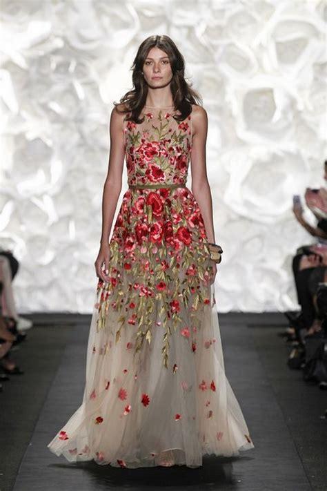 Dress Model Motif Flower Blue Stylish Fashion Impor floral embroidered dress for wear adworks pk
