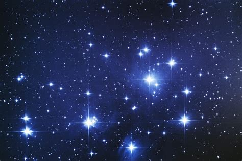 pattern bintang pleiades star cluster aka seven sisters astronomy