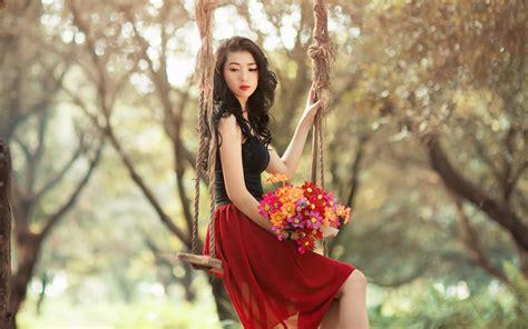 wallpaper girl all wonderful girl flowers wallpaper 44555 2560x1600 px