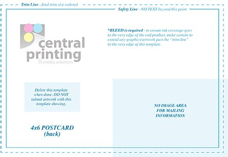 template indesign postcard direct mail and postcard templates central printing