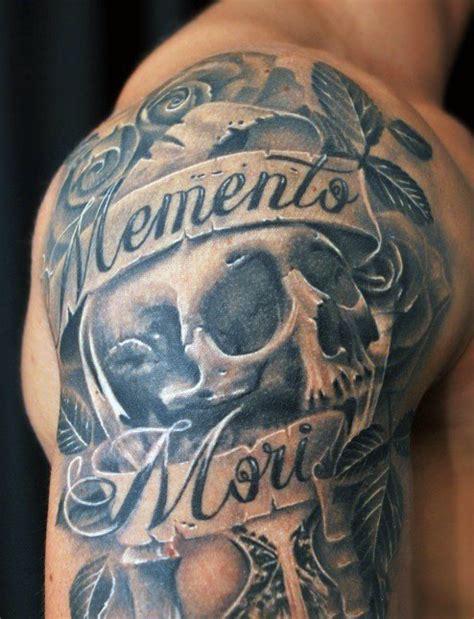 skull banner memento mori tattoo golfian com
